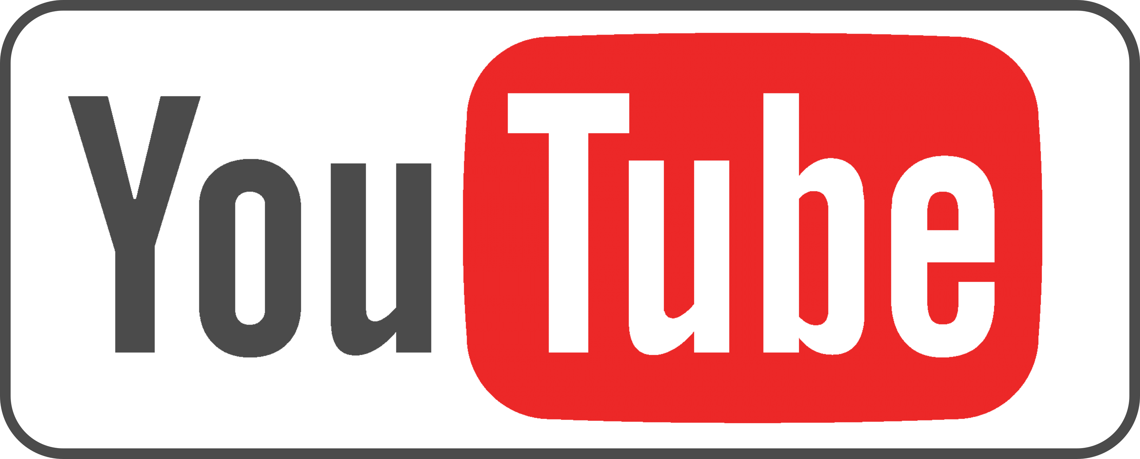 Solid color You Tube logo